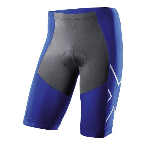 Mens 2XU G:2 Compression Tri Fitted Shorts - Nautic Blue/Charcoal XXL