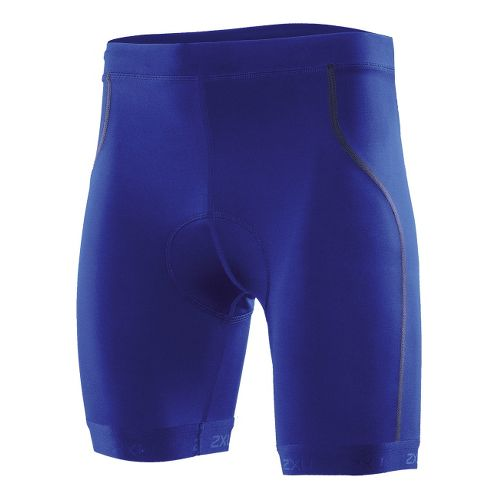 Mens 2XU Active Tri Fitted Shorts - Nautic Blue/Charcoal XL