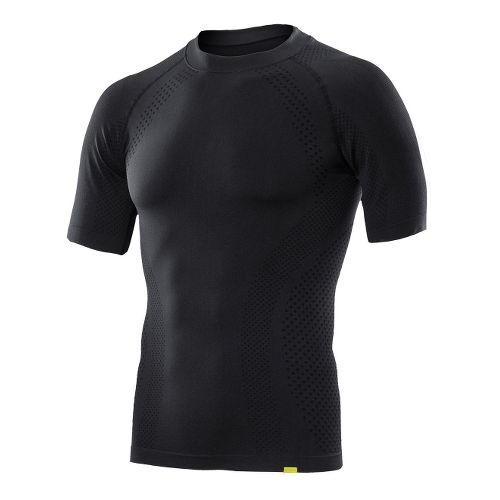 Mens 2XU Engineered Knit Short Sleeve Technical Tops - Black/Black S/M
