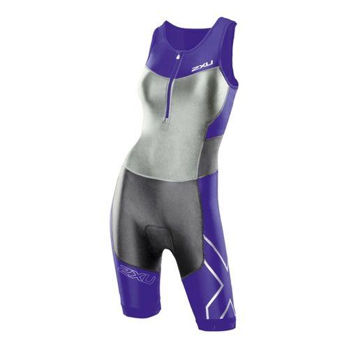 Womens 2XU G:2 Compression Triathlon UniSuits - Purple Hue/Charcoal XS