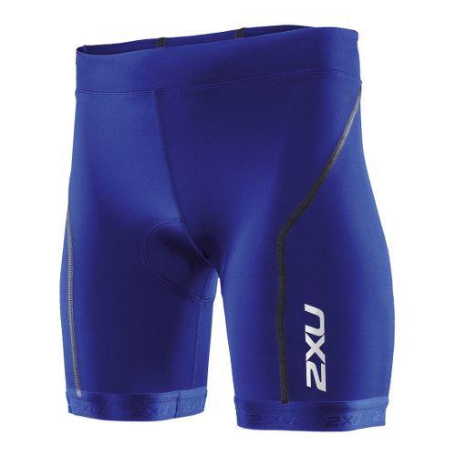 Womens 2XU Active Tri Fitted Shorts - Nautic Blue/Nautic Blue XL