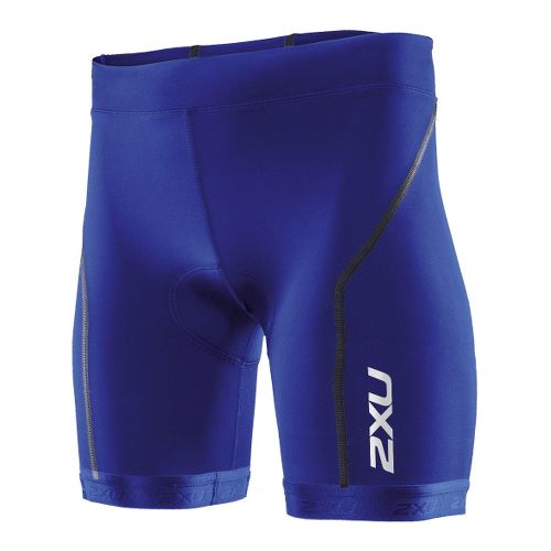 Womens 2XU Active Tri Fitted Shorts - Nautic Blue/Nautic Blue XS