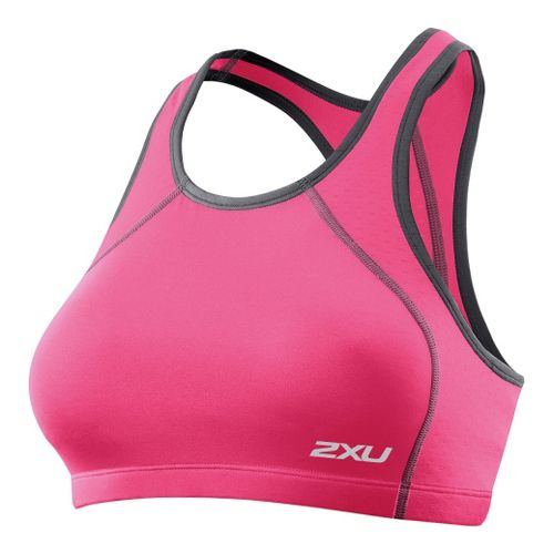 Womens 2XU Perform Tri Top Sports Bras - Synthetic Pink/Synthetic Pink S