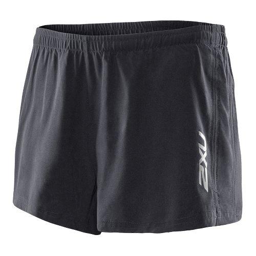Womens 2XU Active Run Lined Shorts - Black/Black M