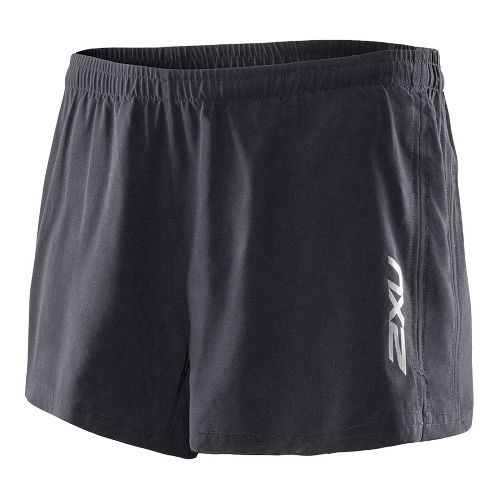 Womens 2XU Active Run Lined Shorts - Black/Black XL