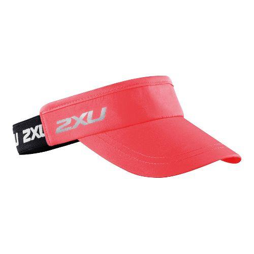 2XU Performance Visor Headwear - Cherry Pink/Black