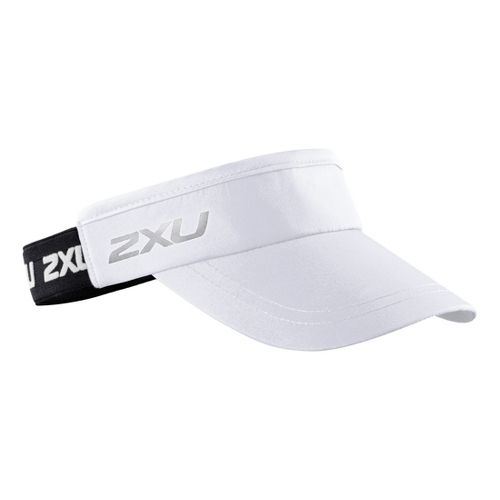 2XU Performance Visor Headwear - White/Black