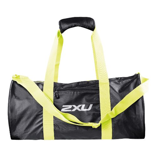 Womens 2XU Cylinder Gym Bags - Black/Aurora Lime