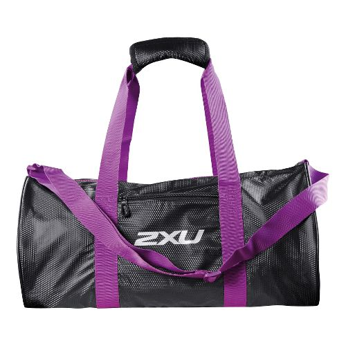 Womens 2XU Cylinder Gym Bags - Black/Purple Lacquer