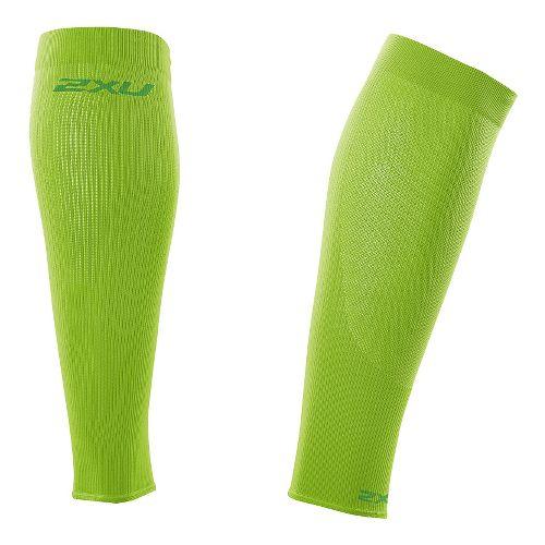 2XU Compression Performance Run Sleeve Injury Recovery - Fluro Green/Green XL