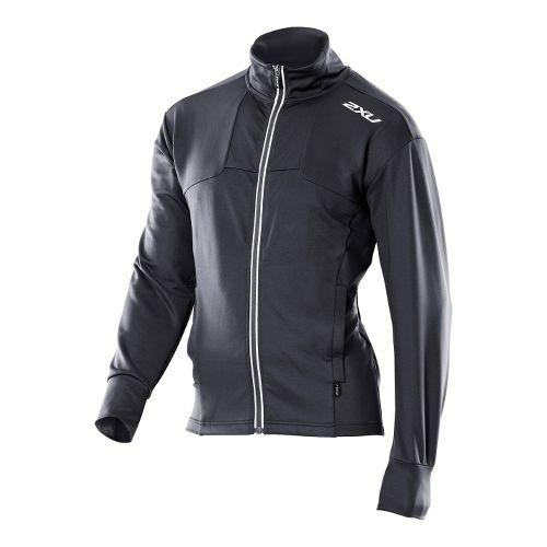 Mens 2XU Performance Track Sweat Outerwear Jackets - Black/Black XXL