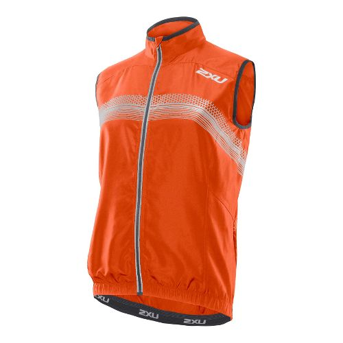 Mens 2XU Microclimate Reflector Outerwear Vests - Blazing Orange/Charcoal S