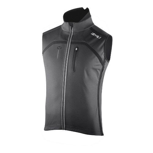 Mens 2XU G:2 Sub Zero Cycle Outerwear Vests - Black/Black XXL