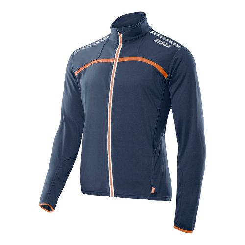2XU G:2 Microthermal Outerwear Jackets - Blue Slate/Blazing Orange S