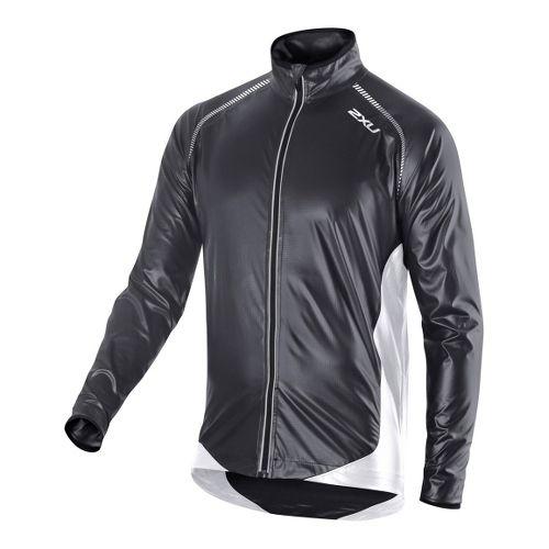 Mens 2XU X Lite Membrane Outerwear Jackets - Black/Black S
