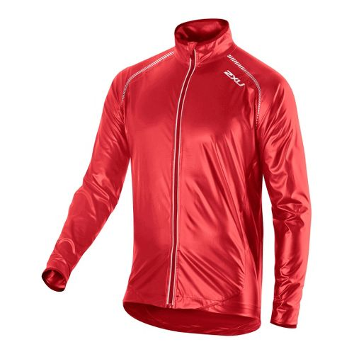 Mens 2XU X Lite Membrane Outerwear Jackets - Flame/Flame S