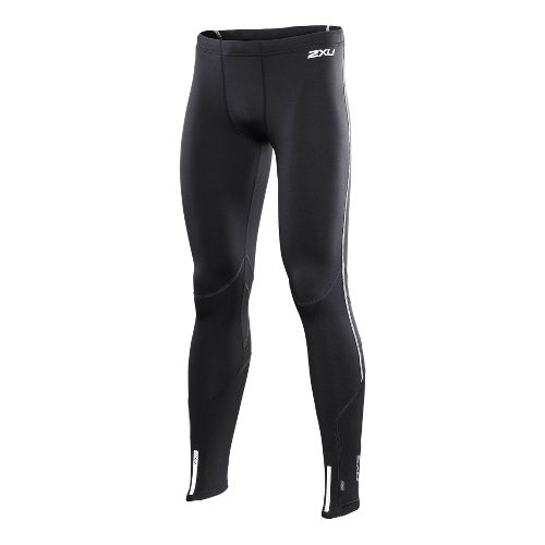 Mens 2XU Thermal Fitted Tights - Black/Silver S