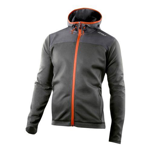 Mens 2XU Perform Multi-Sport Outerwear Jackets - Ash Grey/Blazing Orange S