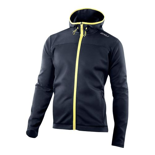 Mens 2XU Perform Multi-Sport Outerwear Jackets - Blue Slate/Pale Yellow L
