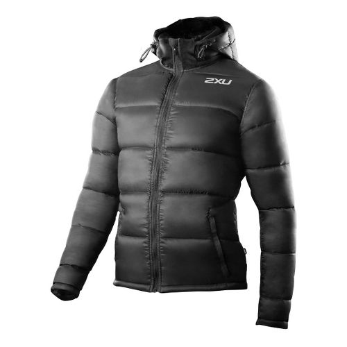 Mens 2XU G:2 Insulation Outerwear Jackets - Black/Black L