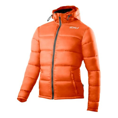 Mens 2XU G:2 Insulation Outerwear Jackets - Blazing Orange/Charcoal M