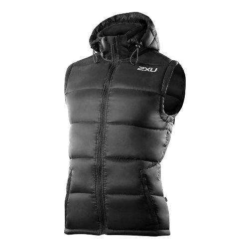 Mens 2XU G:2 Insulation Outerwear Vests - Black/Black M