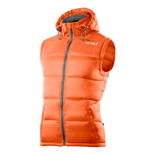 Mens 2XU G:2 Insulation Outerwear Vests - Blazing Orange/Charcoal M
