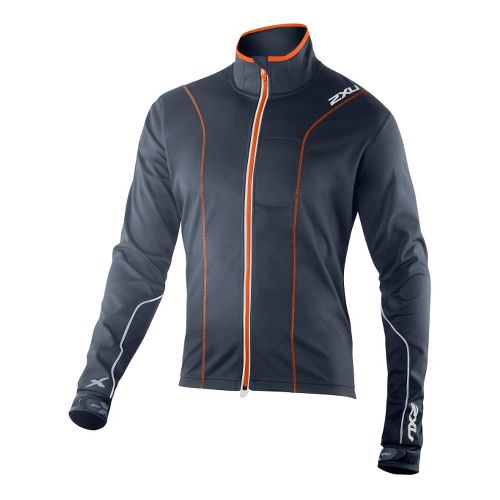Mens 2XU G:2 Perform Outerwear Jackets - Blue Slate/Blazing Orange XXL