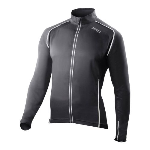 Mens 2XU 360 Action Outerwear Jackets - Black/Black S