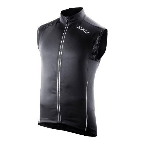Mens 2XU 360 Action Outerwear Vests - Black/Black L