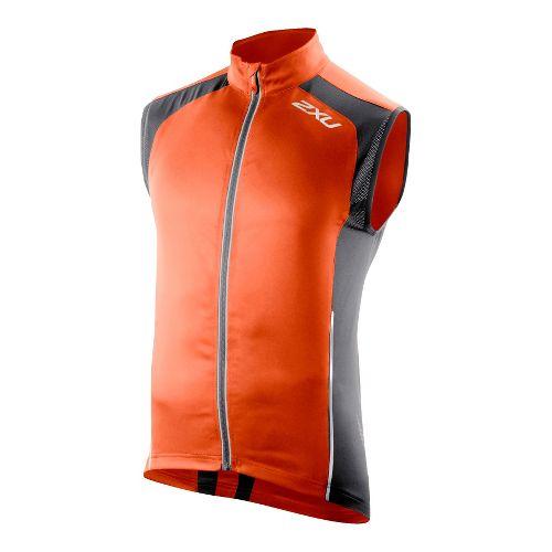 Mens 2XU 360 Action Outerwear Vests - Blazing Orange/Charcoal L
