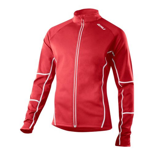 Mens 2XU G:2 Micro Thermal Outerwear Jackets - Flame/Flame L