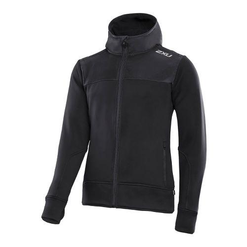 Mens 2XU G:2 Active Fleece Cruizer Outerwear Jackets - Black/Black M