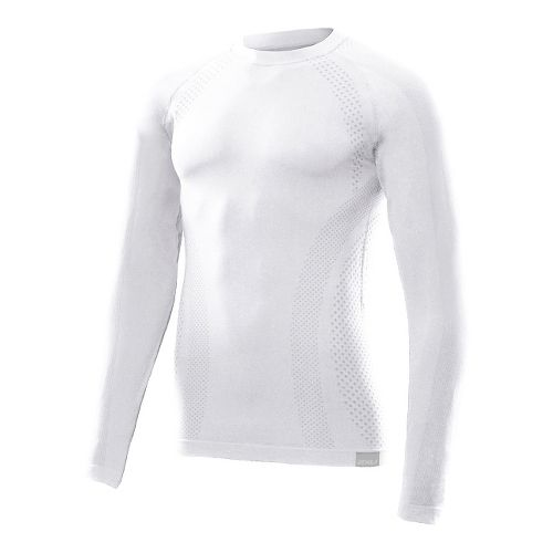 Mens 2XU G:2 Engineered Knit Baselayer Long Sleeve No Zip Technical Tops - White/White M/L ...