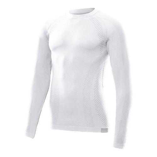Mens 2XU G:2 Engineered Knit Baselayer Long Sleeve No Zip Technical Tops - White/White XS/S ...