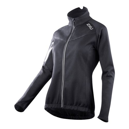Womens 2XU G:2 Sub Zero Cycle Outerwear Jackets - Black/Black L