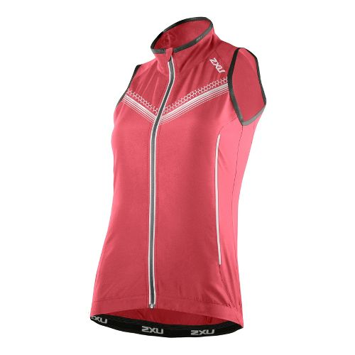 Womens 2XU Microclimate Reflector Outerwear Vests - Coral Rose/Coral Rose S