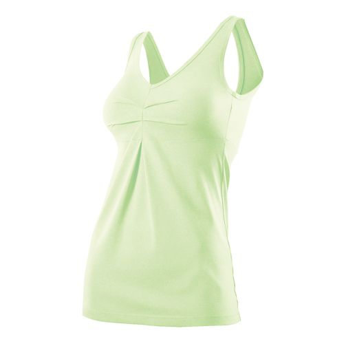 Womens 2XU Movement V Tanks Technical Tops - Honeydew Marle M