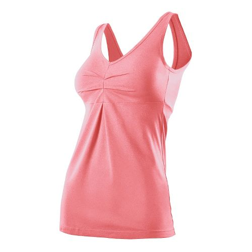 Womens 2XU Movement V Tanks Technical Tops - Dusty Pink Marle/Dusty Pink Marle L