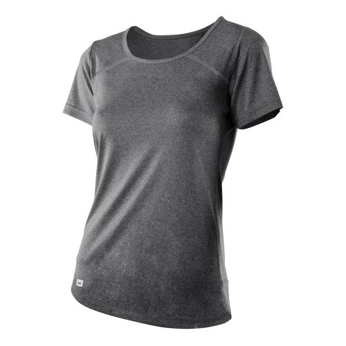 Womens 2XU Movement Tee Short Sleeve Technical Tops - Black Marle/Black Marle L