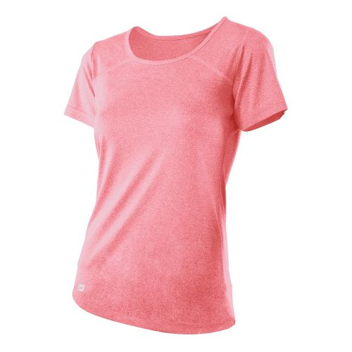 Womens 2XU Movement Tee Short Sleeve Technical Tops - Dusty Pink Marle/Dusty Pink Marle L ...