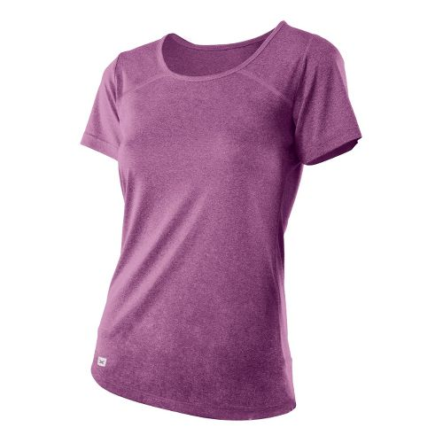 Womens 2XU Movement Tee Short Sleeve Technical Tops - Plum Marle/Plum Marle M