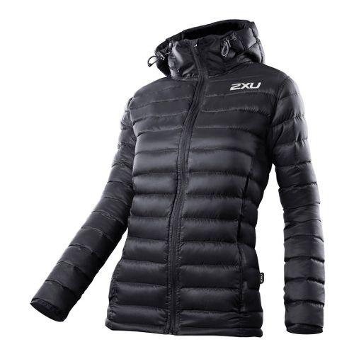 Womens 2XU G:2 Insulation Outerwear Jackets - Black/Black L