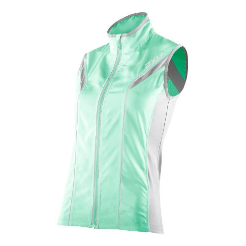 Womens 2XU 360 Action Outerwear Vests - Ice Green/Concrete Grey XS