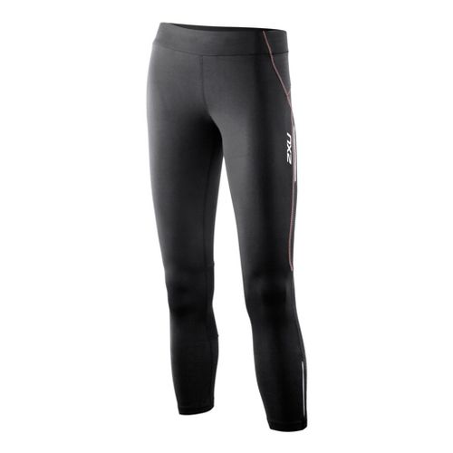 Womens 2XU G:2 Trainer 7/8 Fitted Tights - Black/Dusty Pink L