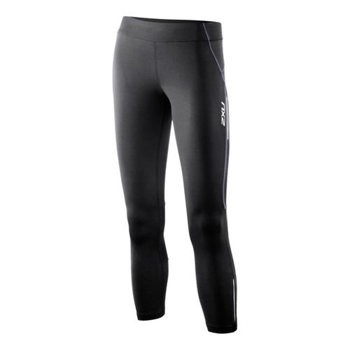 Womens 2XU G:2 Trainer 7/8 Fitted Tights - Black/Lavender L