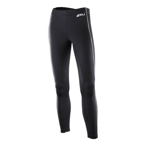 Womens 2XU G:2 Microthermal Fitted Tights - Black/Black L