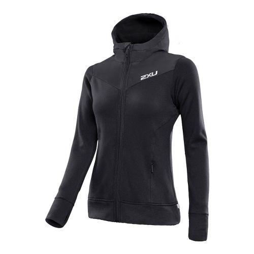 Womens 2XU G:2 Protect Outerwear Jackets - Black/Black L