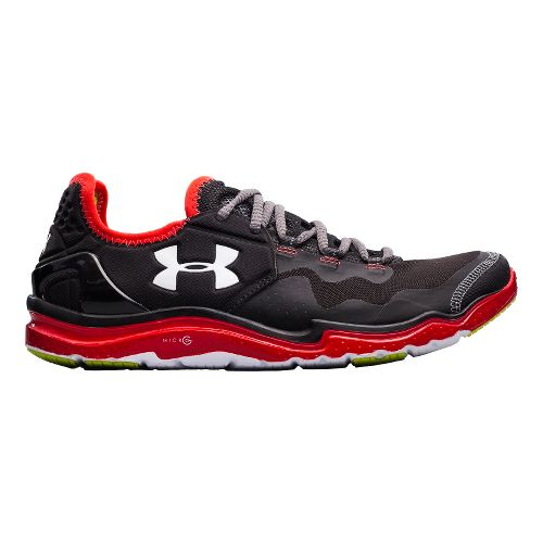 Mens Under Armour Charge RC 2 Running Shoe - Black/Red 12