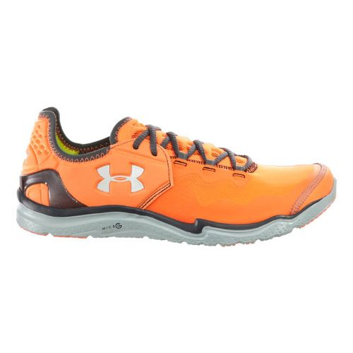 Mens Under Armour Charge RC 2 Running Shoe - Blaze Orange/Charcoal 10.5